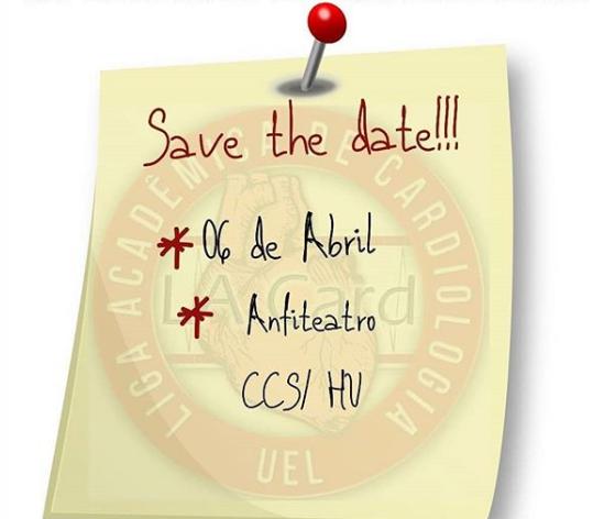 Jornada de Cardiologia da UEL, em 6 de abril